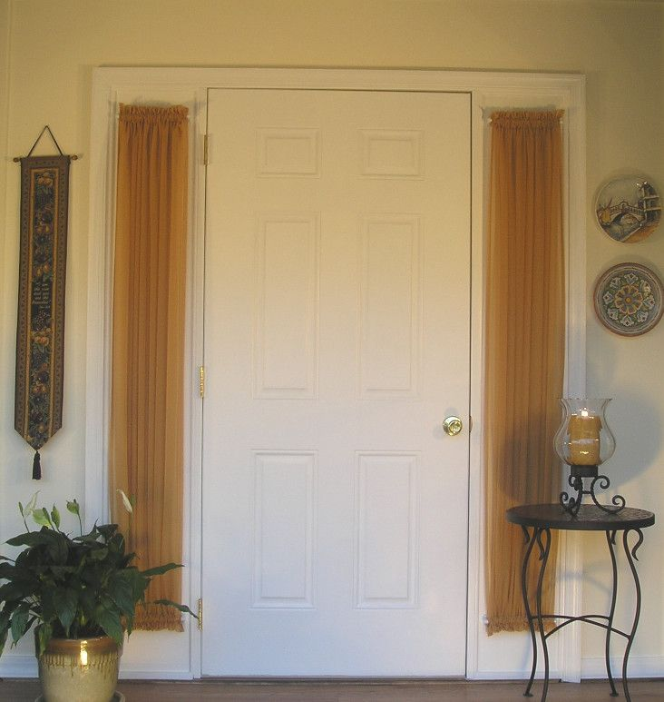 Charming Entry Door Side Panel Curtains