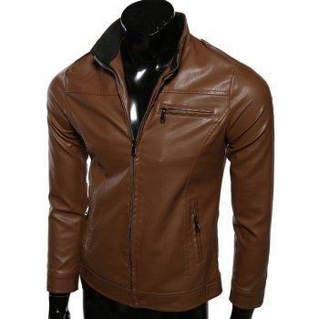 #AdoreWe #DressLily Dresslily Stand Collar Long Sleeve Jacket - AdoreWe.com