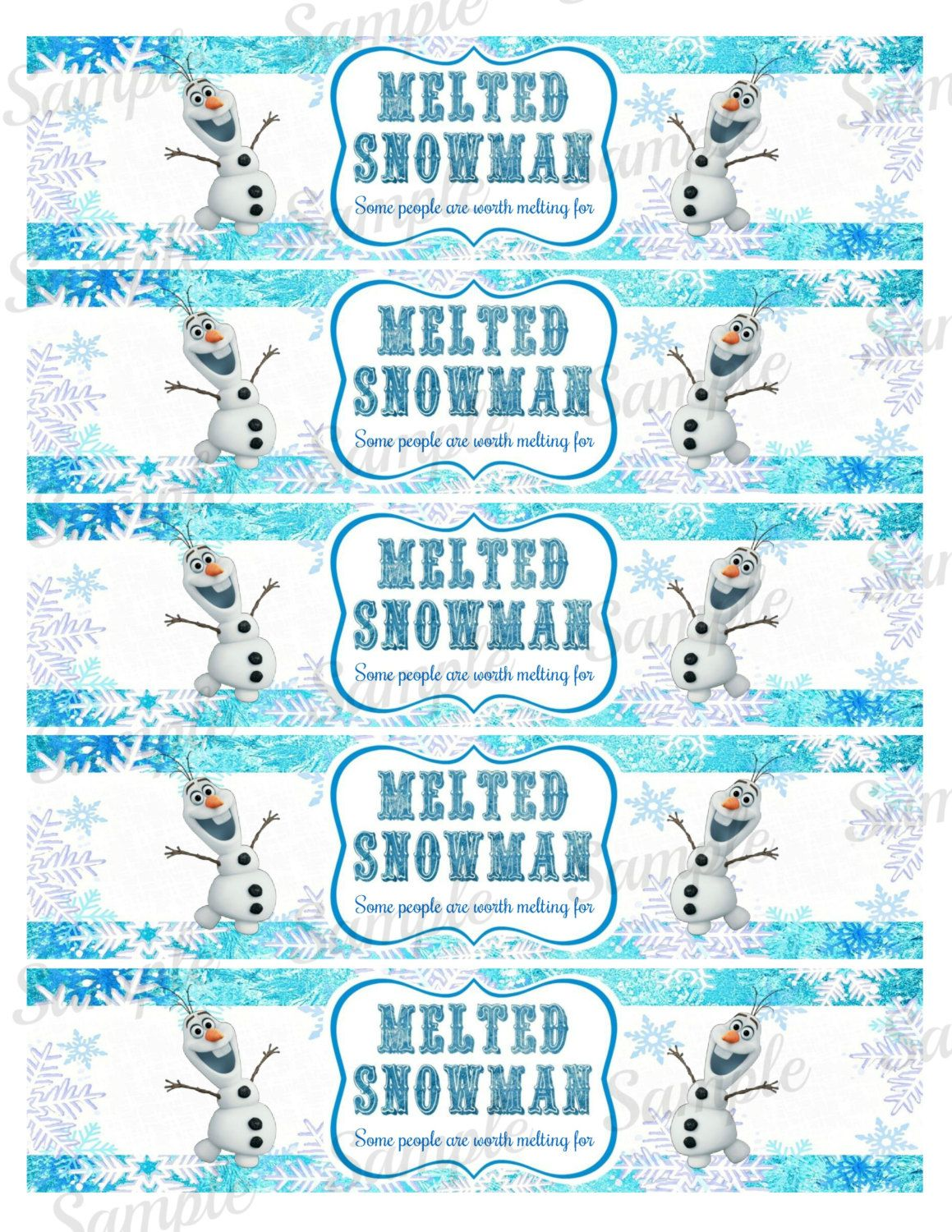 frozen bottle label frozen water bottle by partyprintsdiscount reese 39 s 7th birthday. Black Bedroom Furniture Sets. Home Design Ideas