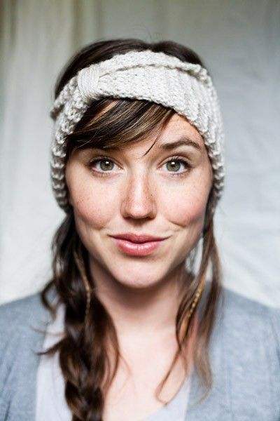 I would love to knit one of these headbands! So cute - reminder I like stripes :) diy