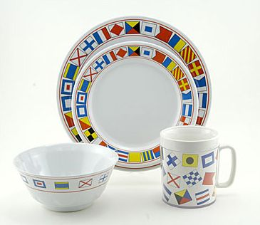Code Flags Melamine Dinnerware  sc 1 st  Pinterest & Code Flags Melamine Dinnerware | Nautical Flag Obsession | Pinterest ...