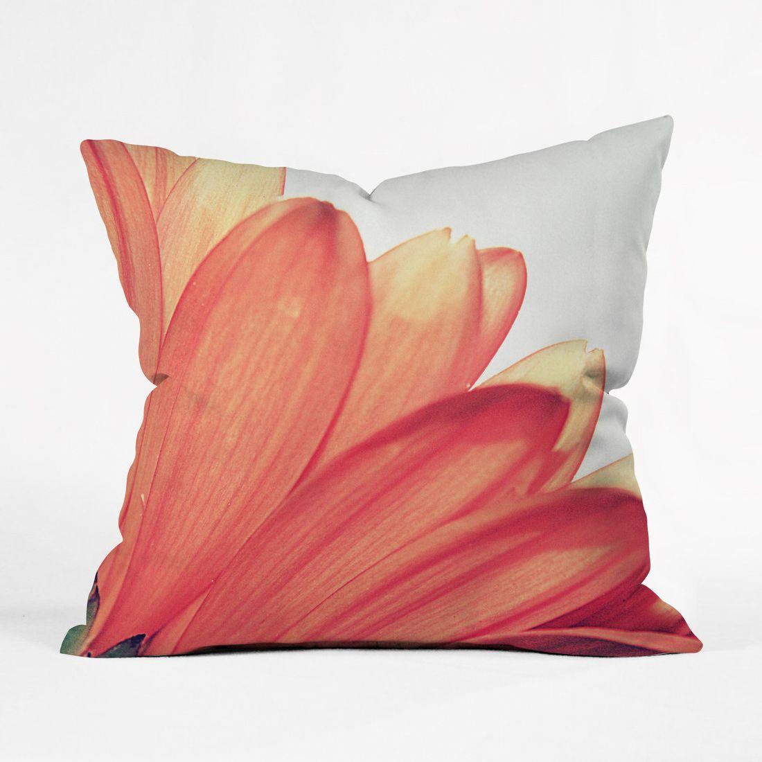 26 Round Floor Pillow Kess InHouse Iris Lehnhardt You are My Sunshine Pink Orange