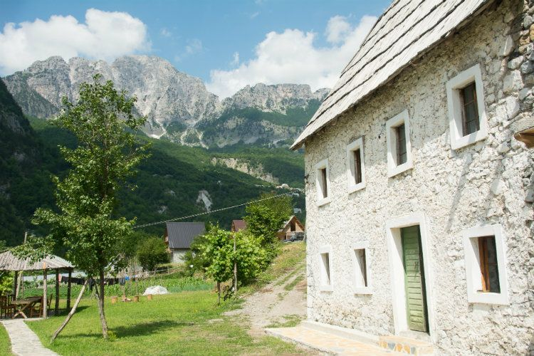 A homestay in Theth, Albania.