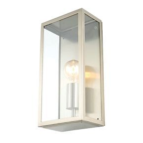Order online at Screwfix.com. Outdoor wall light fitting. Earthed for safety. Compatible with LED, CFL and incandescent lamps. FREE next day delivery available, free collection in 5 minutes.