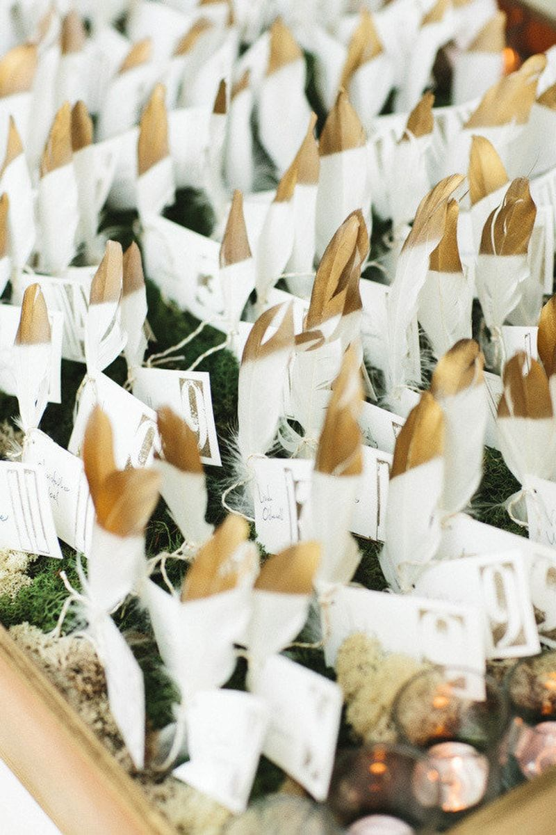 feather wedding favors from Feather Wedding Ideas blog feature.http ...