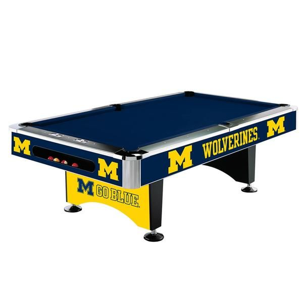 This Michigan Wolverines Pool Table By Imperial Usa Is The Real Deal Officially Licenced By The Ncaa Show Your Un 8 Pool Table Billiard Pool Table Pool Table