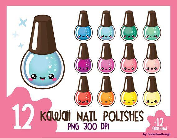Kawaii Nail Polish Clipart Nail Polish Clip Art Manicure Clipart