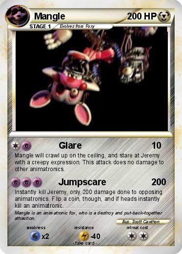 Pok 233 Mon Mangle 4 4 Glare My Pokemon Card Freddy And