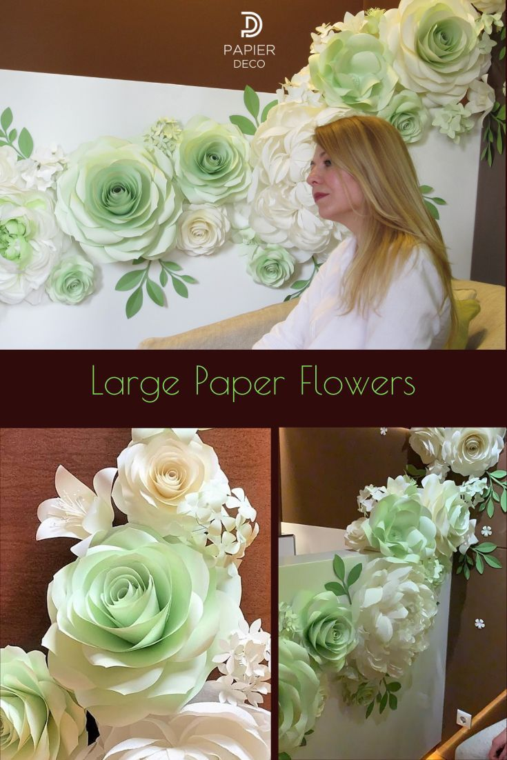 Paper Wall Flowers for Flower Garland #paperflowergarlands