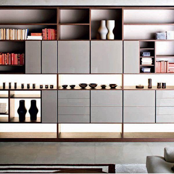 505 storage system by molteni c chaise longue storage - Longue etagere murale ...
