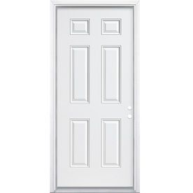 Masonite Left Hand Inswing Primed Steel Prehung Double Entry Door With  Insulating Core (Common