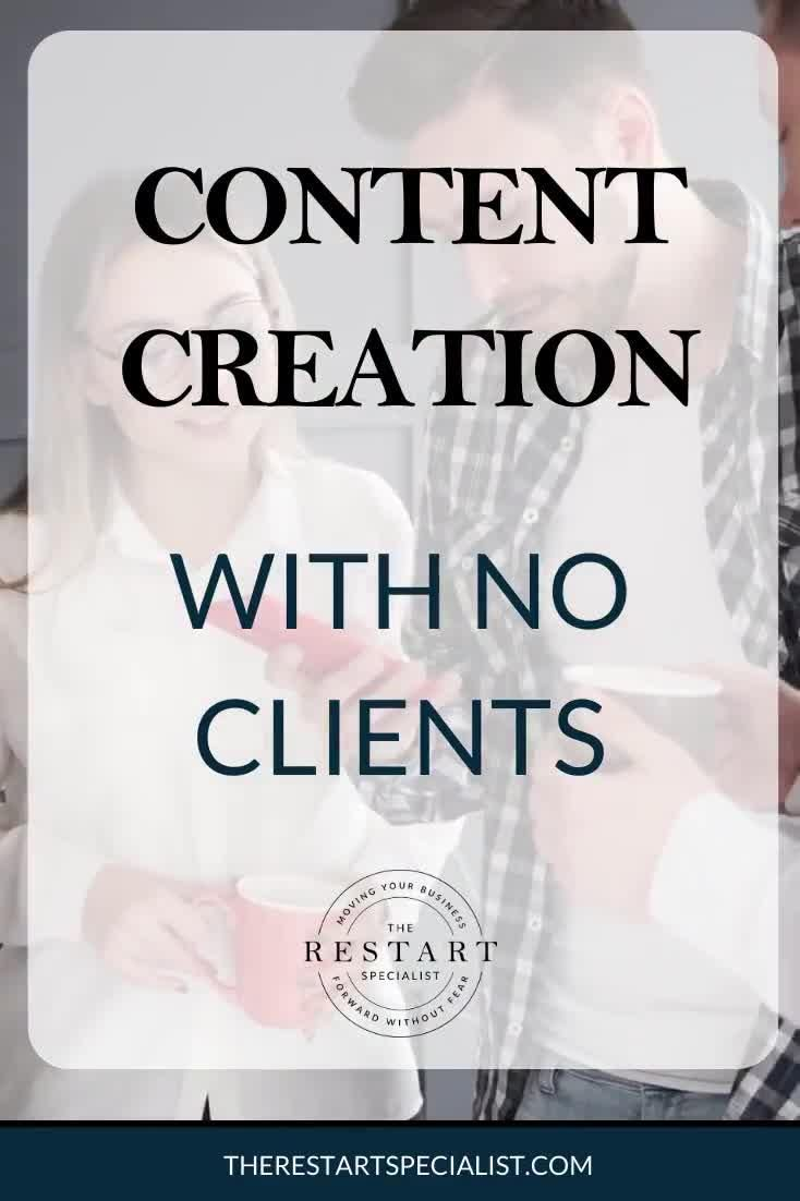 Content Creation With NO Photography Clients