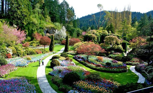 Butchart Gardens in Victoria, B.C., Canada.