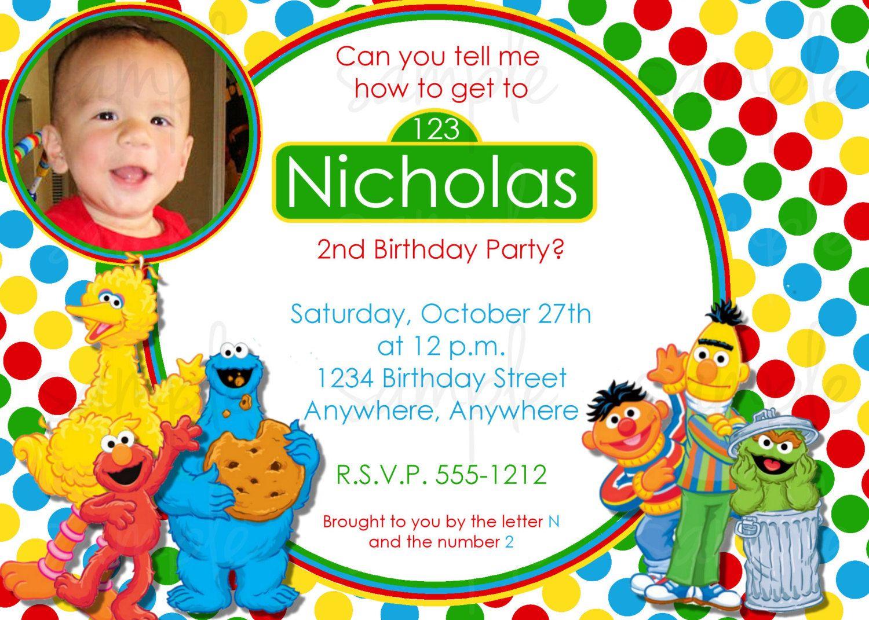Sesame Street Birthday Invitations Templates More http://www ...