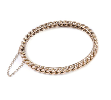 Turner & Tatler English Curb Link Bracelet with Diamond Bars Fs86Ox