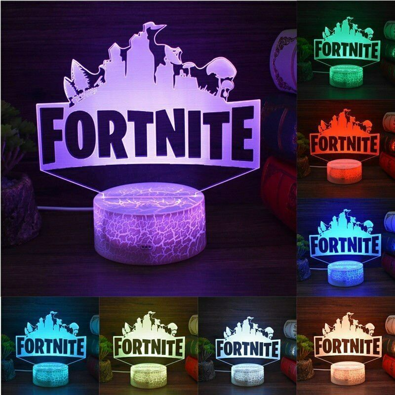 3d Lamp Fortnite Sign Led Night Light 7 Colors Usb Touch Remote Desk Lamp Gifts Fortnite Fortnitebattleroyale With Images 3d Led Night Light Led Night Light Night Light
