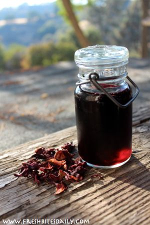 Hibiscus Syrup For Convenient Summer Treats And Wintertime Tea Hibiscus Syrup Hibiscus Tea Hibiscus