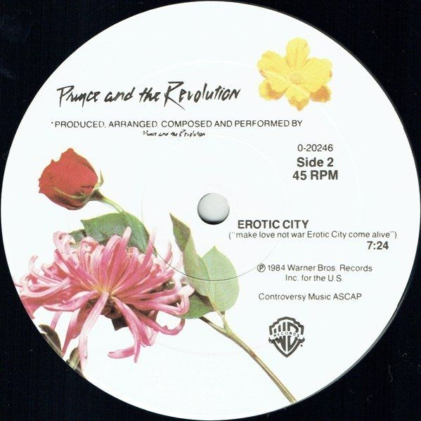 Prince And The Revolution - Let's Go Crazy / Erotic City