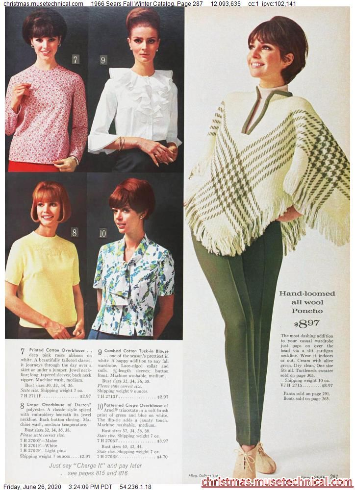 1966 Sears Fall Winter Catalog, Page 287 - Christm