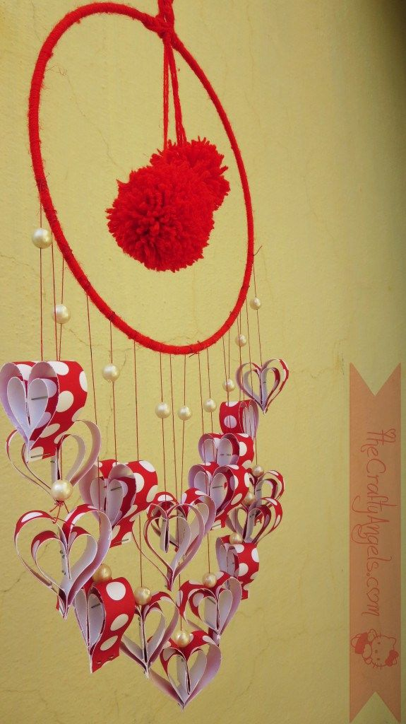 Paper hearts wall hanging | ΕΡΓΑ ΤΕΧΝΗΣ | Pinterest | Paper hearts ...
