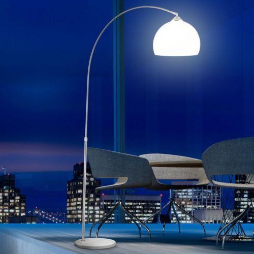 Designer Standleuchte Marmorfuss Teleskoplampe Bogen Wohnzimmer Beleuchtung Lampe
