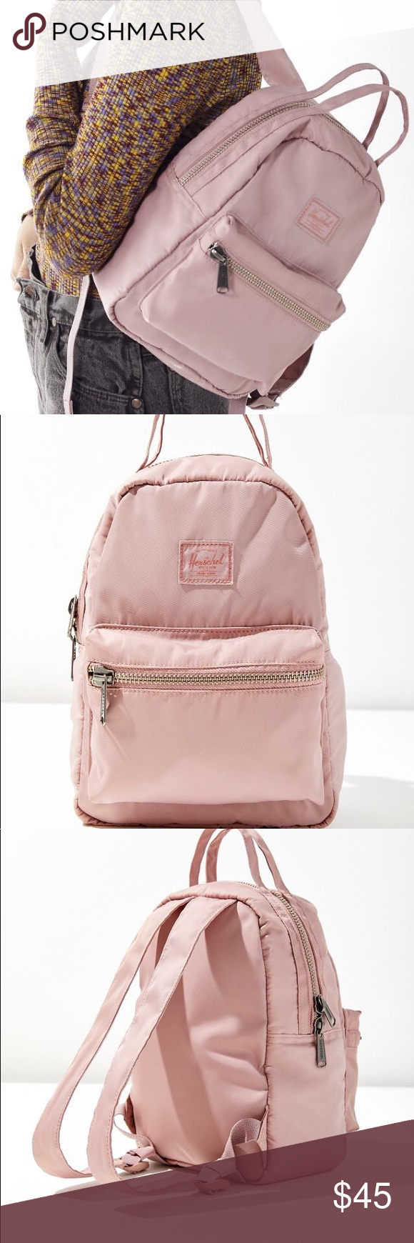 a8d6572727 💕NWT Herschel Supply Co Satin Nova mini backpack Cute and compact Herschel  mini backpack in a mini square silhouette. Sleek flight satin fabrication  with ...