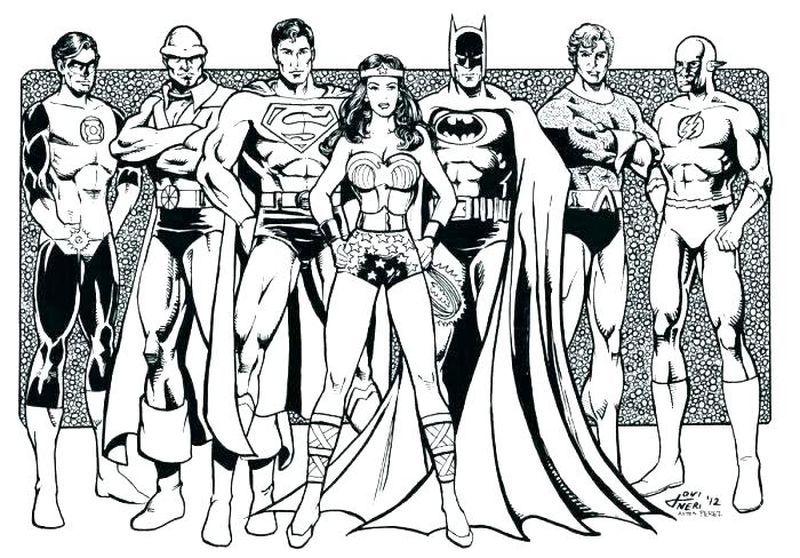 Justice League Coloring Pages Pdf