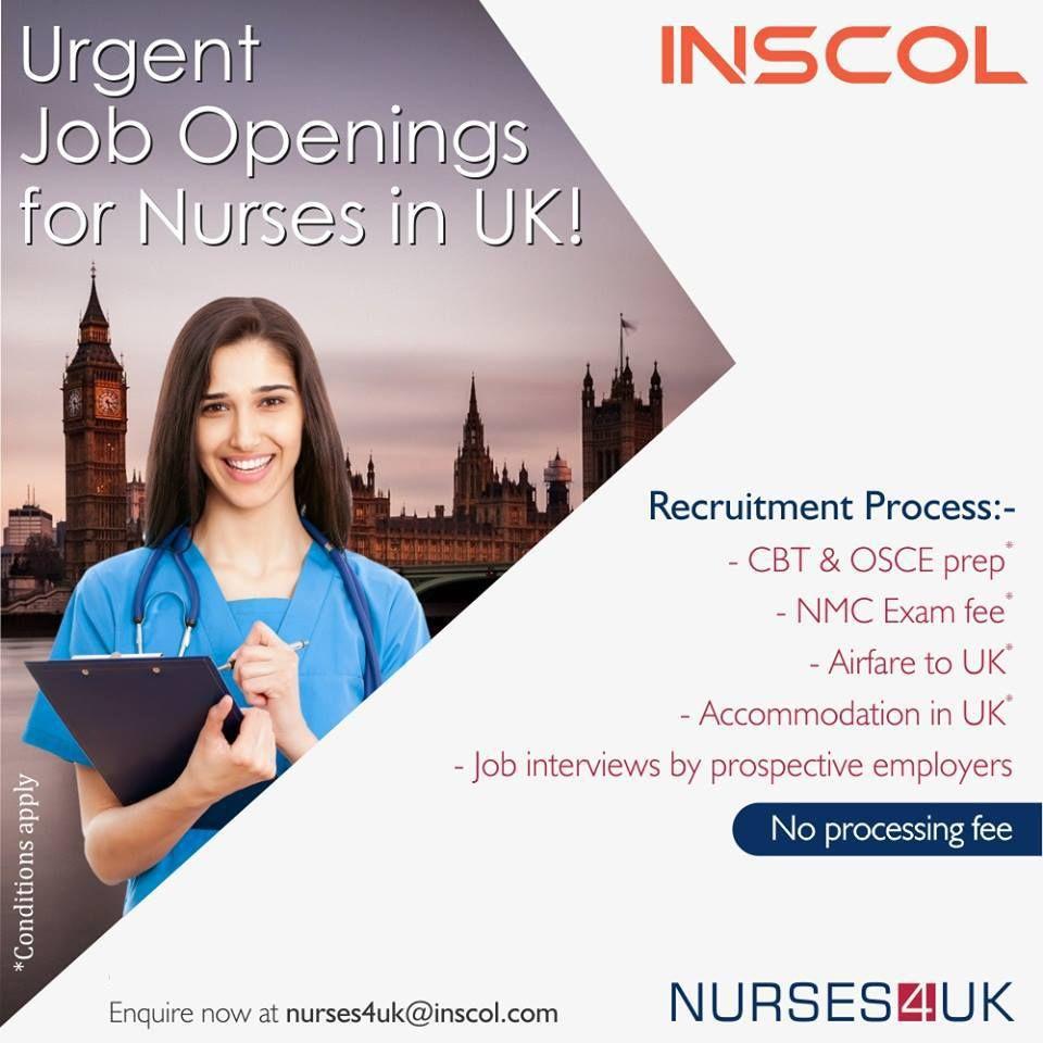 Golden Opportunity for Nurses to WORK in UK