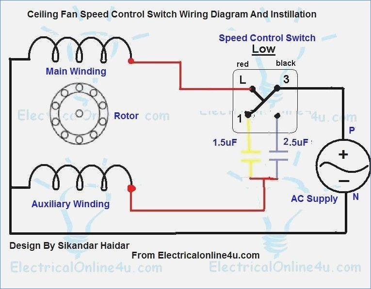 Ceiling fan speed control switch wiring diagram technical pinterest ceiling fan speed control switch wiring diagram aloadofball Images