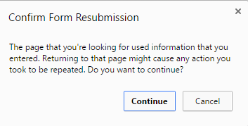 Prevent (Avoid) Form Resubmission (Resubmit) when Refresh