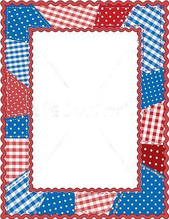 Red White And Blue Frames Borders Corners Borders For Paper