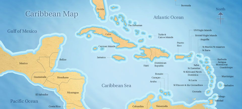 Caribbean Map Map Of The Caribbean Maps Pinterest - Map of the carribean