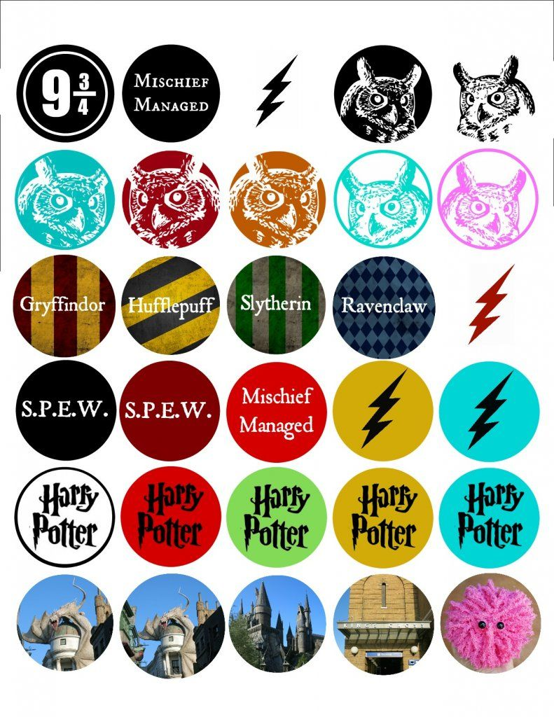graphic relating to Printable Bottlecap Images identified as Harry Potter Bottle Cap Guide - Totally free Printable All