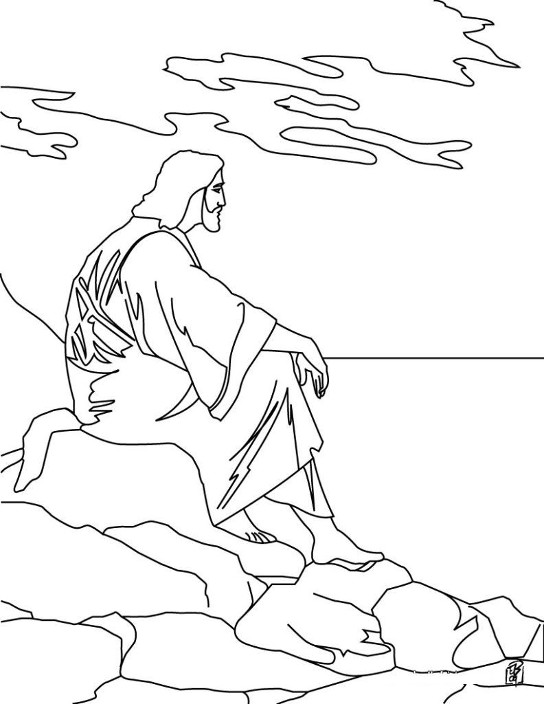 Free Printable Jesus Coloring Pages For Kids Page Of Temptation 792x102 Jesus Coloring Pages Bible Coloring Pages Easter Coloring Pages