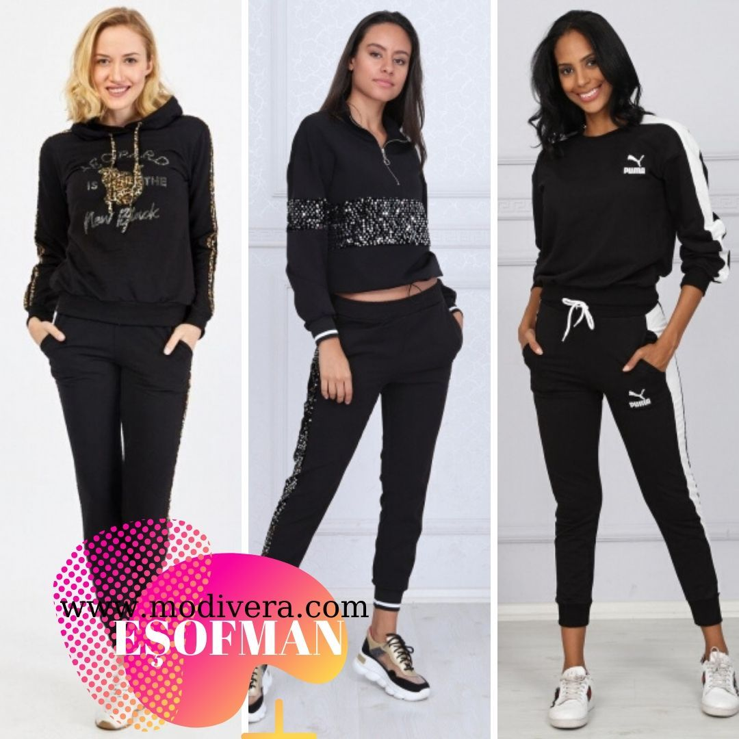 Ucuz Esofman Takimlari Bayan Giyim Kapida Odeme 2020 Sportif Kiyafetler Moda Moda Stilleri