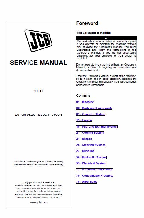 Jcb 1tht Site Dumper Thwaites Service Manual Manual Repair Manuals Site
