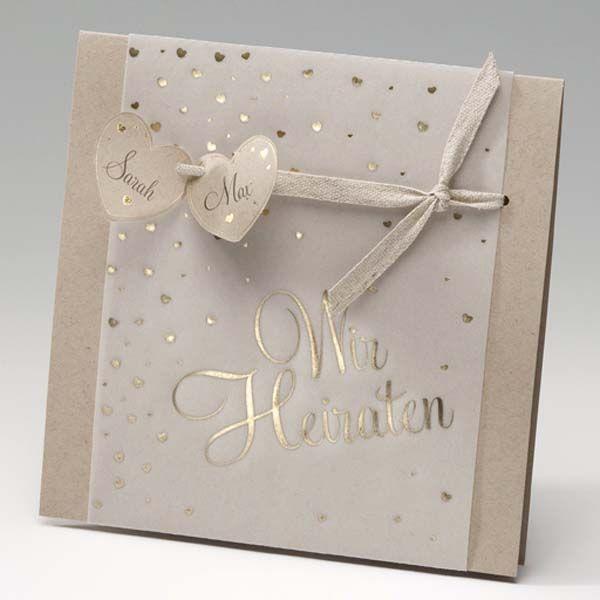 Einladungskarte Vintage Herz Sweetwedding Hochzeitskarten