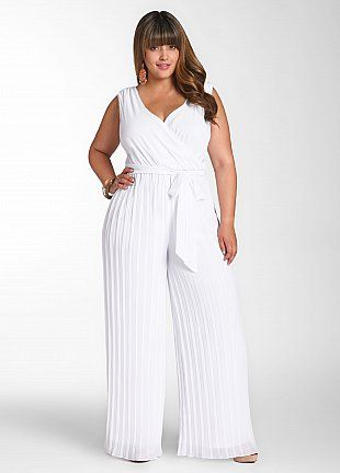 Ashley Stewart: Pleated Pant Jumpsuit | Random | Plus size jumpsuit ...