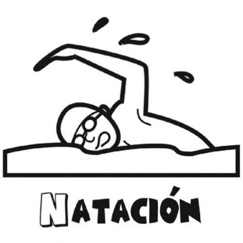 Dibujo De Natacion Para Colorear Natacion Dibujos Dibujos Para Colorear Natacion