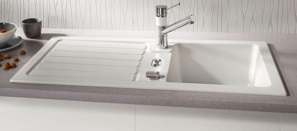 Details zu Einbauspüle Systemceram KeraDomo Delta 86 Keramikspüle - spülbecken küche keramik