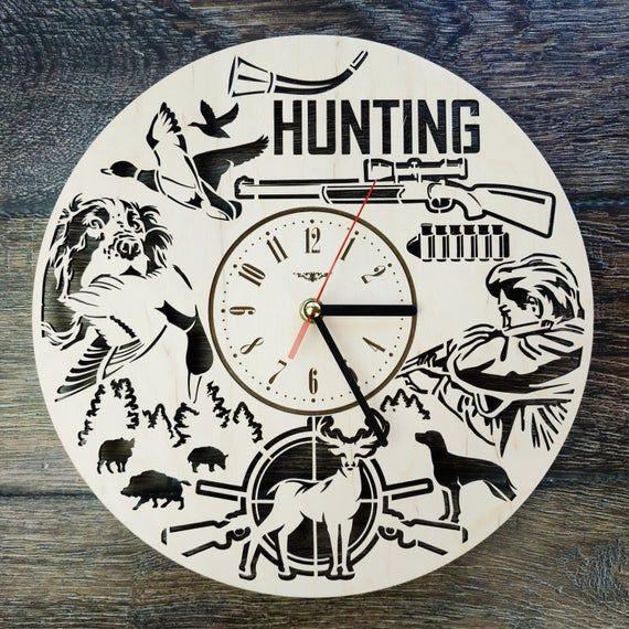 Hunting Wall Art Clock Hunter Home Kitchen Living Room Decor