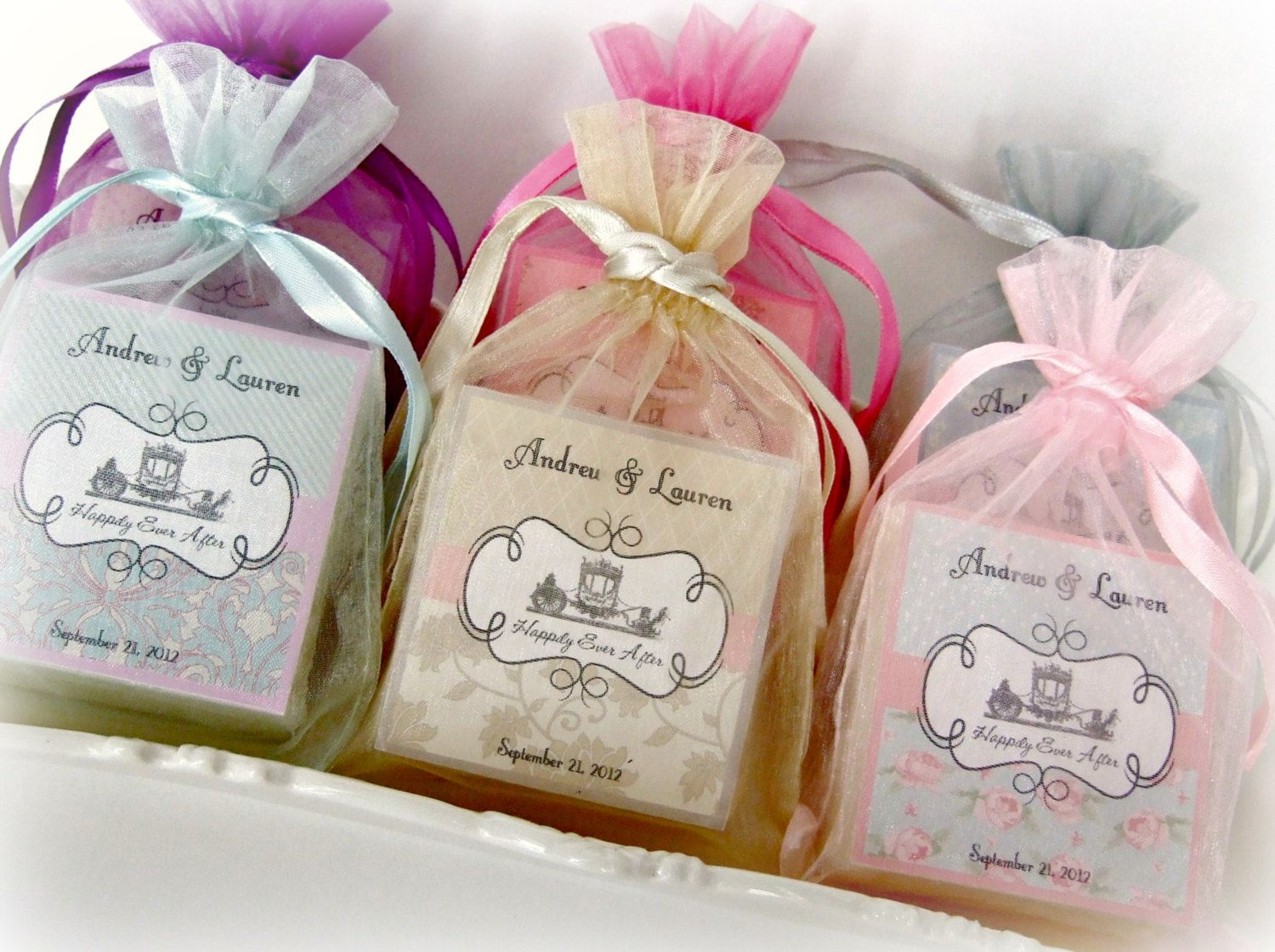 shabby chic wedding favors soap favors set of 10 abbey