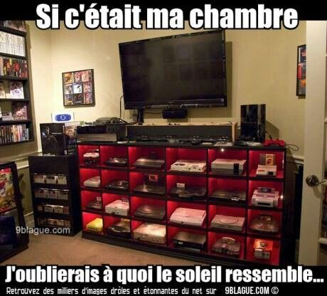 Chambre de gamer  chambre ado  Gamer room Video game rooms et Best gaming setup