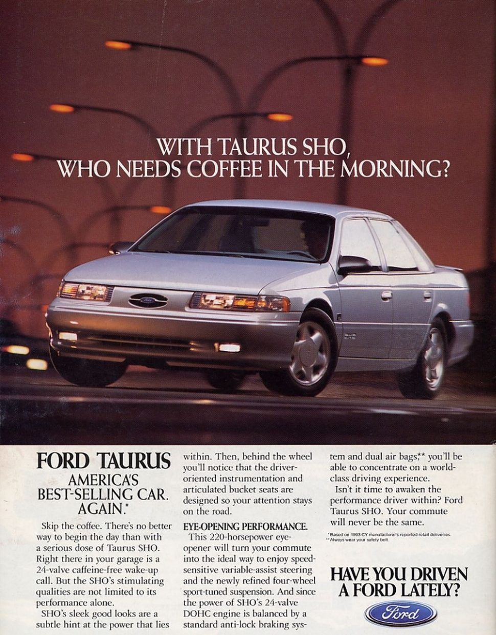 When Performance Sold Cars Ford S 1994 Taurus Sho Car Ford Sell Car Ford