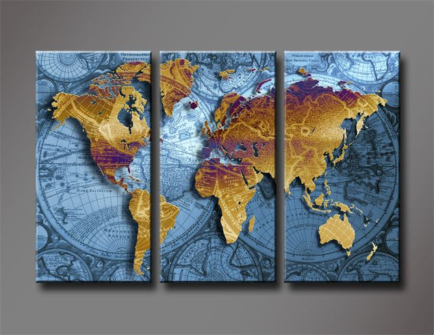 Map Art PromotionOnline Shopping For Promotional Map Art On - Large world map painting