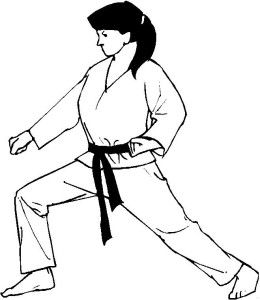 Coluring Page Of Karate Girl Karate Practice Martial Arts Krav Maga
