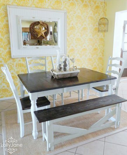 Bon A DIY Stenciled Dining Room Accent Wall Using The Julia Allover Pattern.  Http:/