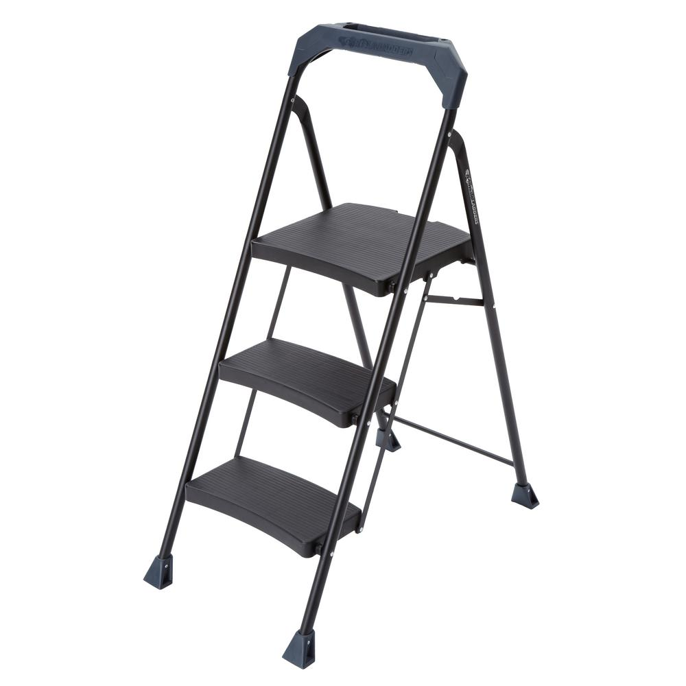 Amazing Gorilla Ladders 3 Step Steel Step Stool With 250 Lb Load Gmtry Best Dining Table And Chair Ideas Images Gmtryco