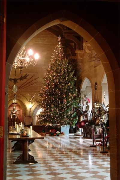 Warwick Castle - Decorated for Christmastime