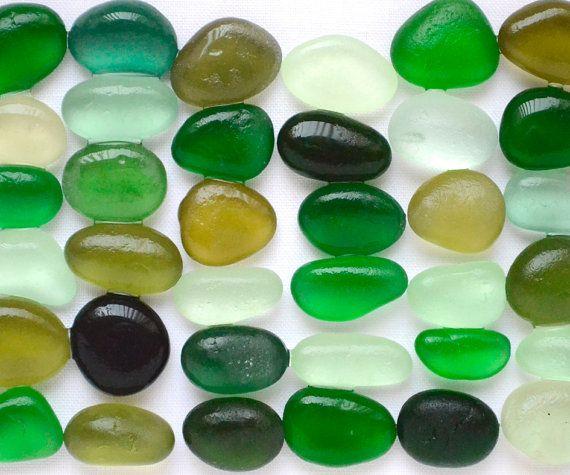 English Sea glass - IN GREEN  | 6dDesigns
